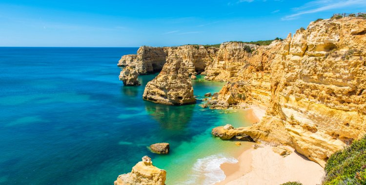 Simon Dannhauer: Praia da Marinha - Beautiful Beach Marinha in Algarve, Portugal